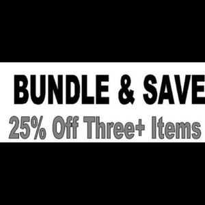 25% off bundles of 3 or more items